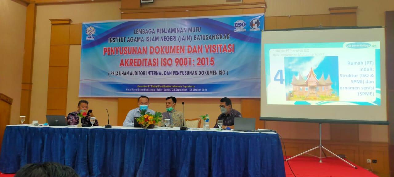 IAIN Batusangkar Menuju Sertifikasi ISO 9001:2015